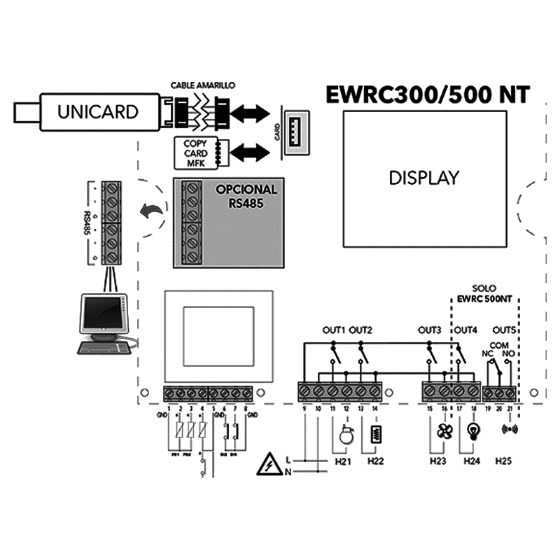 Eliwell-COLDFACE-500-NT-4D-Diagrama