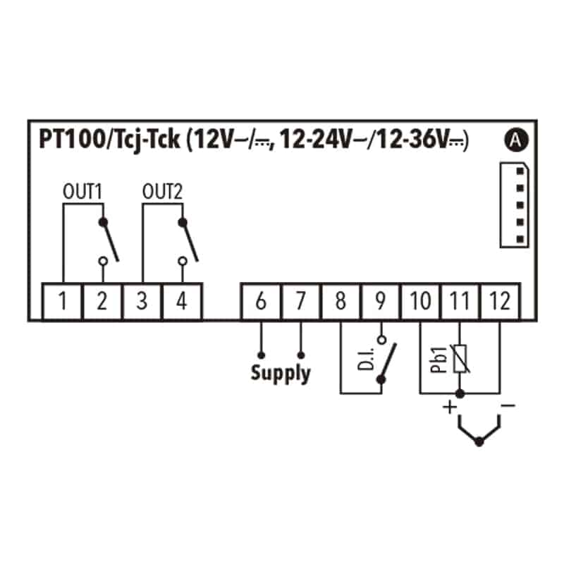 Eliwell IC PLUS 915 JK_ PT100 12V Diagrama 2